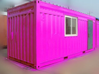 Chiny 40 Ft / 20 Ft Old Prefab Container Housefor Storage Red In Steel dostawca