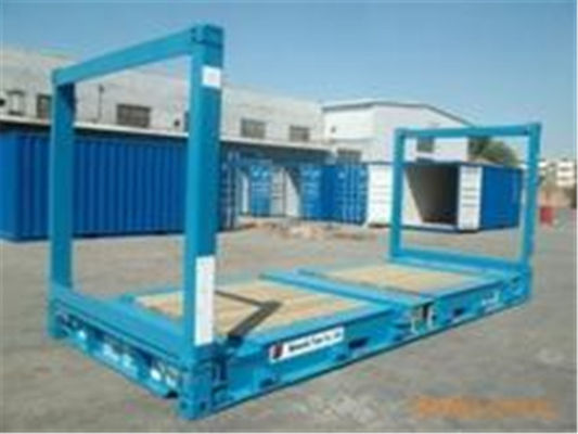 Chiny 20gp Steel Dry Used Flat Rack Containers / Flat Rack Shipping Container fabryka