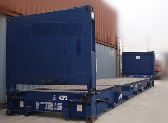 Chiny Second Hand 20ft Flat Rack Container / Used Sea Box Containers na sprzedaż fabryka